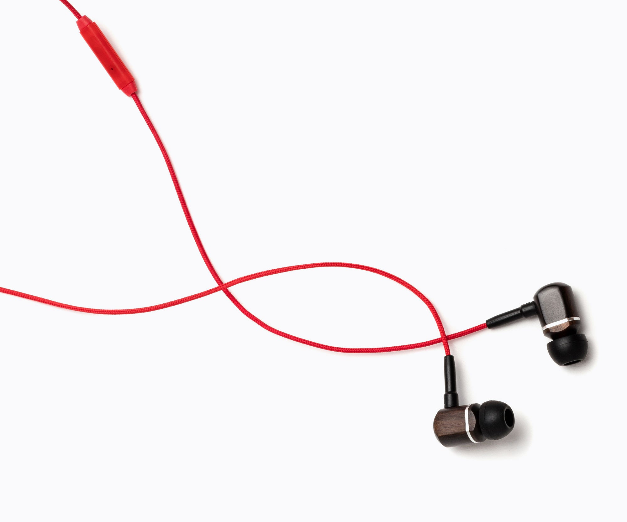 MTRX In-Ear Wood Headphones - Red