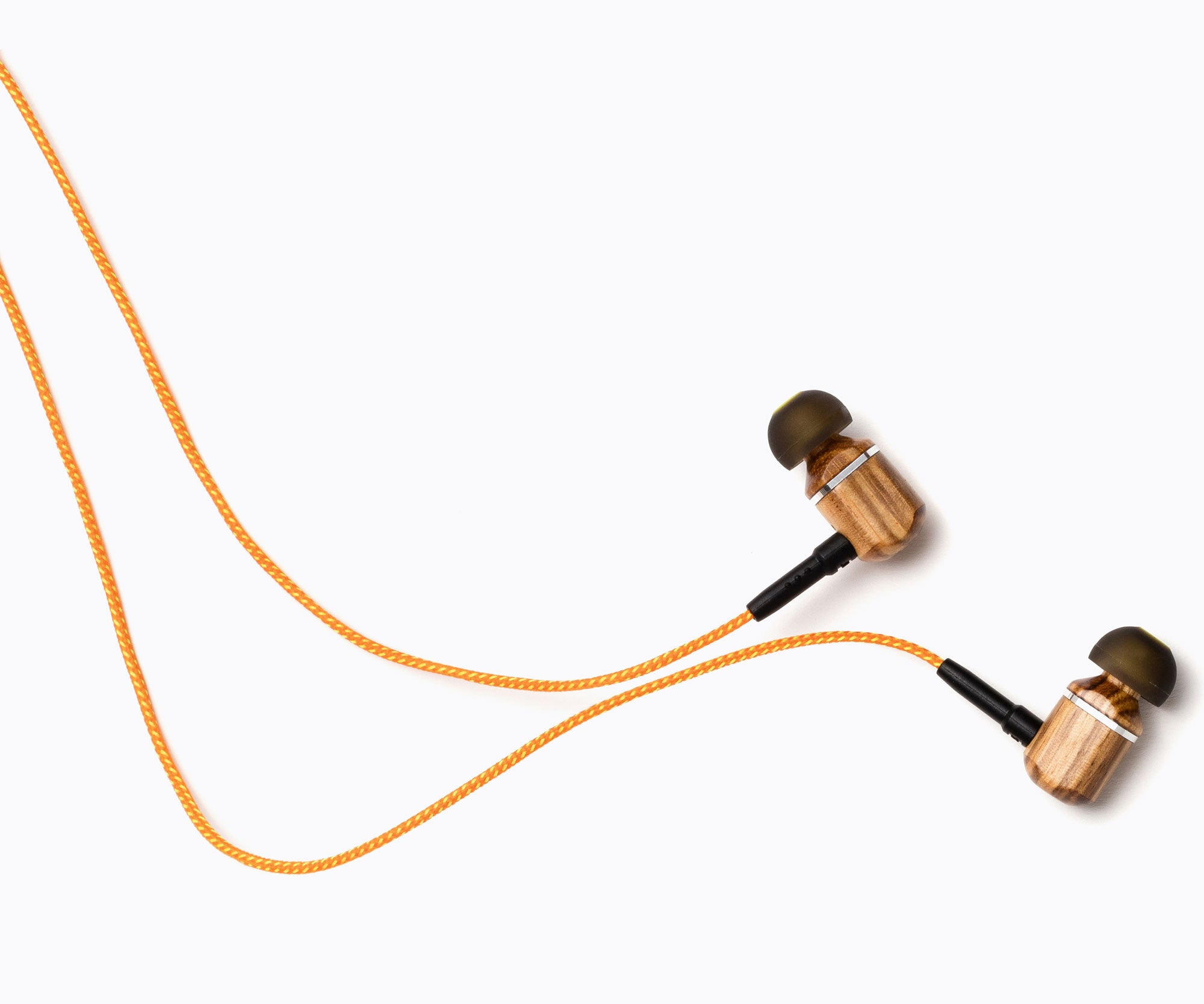MTRX In-Ear Wood Headphones - Orange Stripe