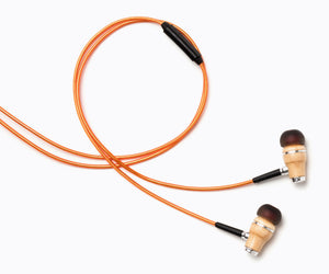 NRG 2.0 In-Ear Wood Headphones - Metallic Orange