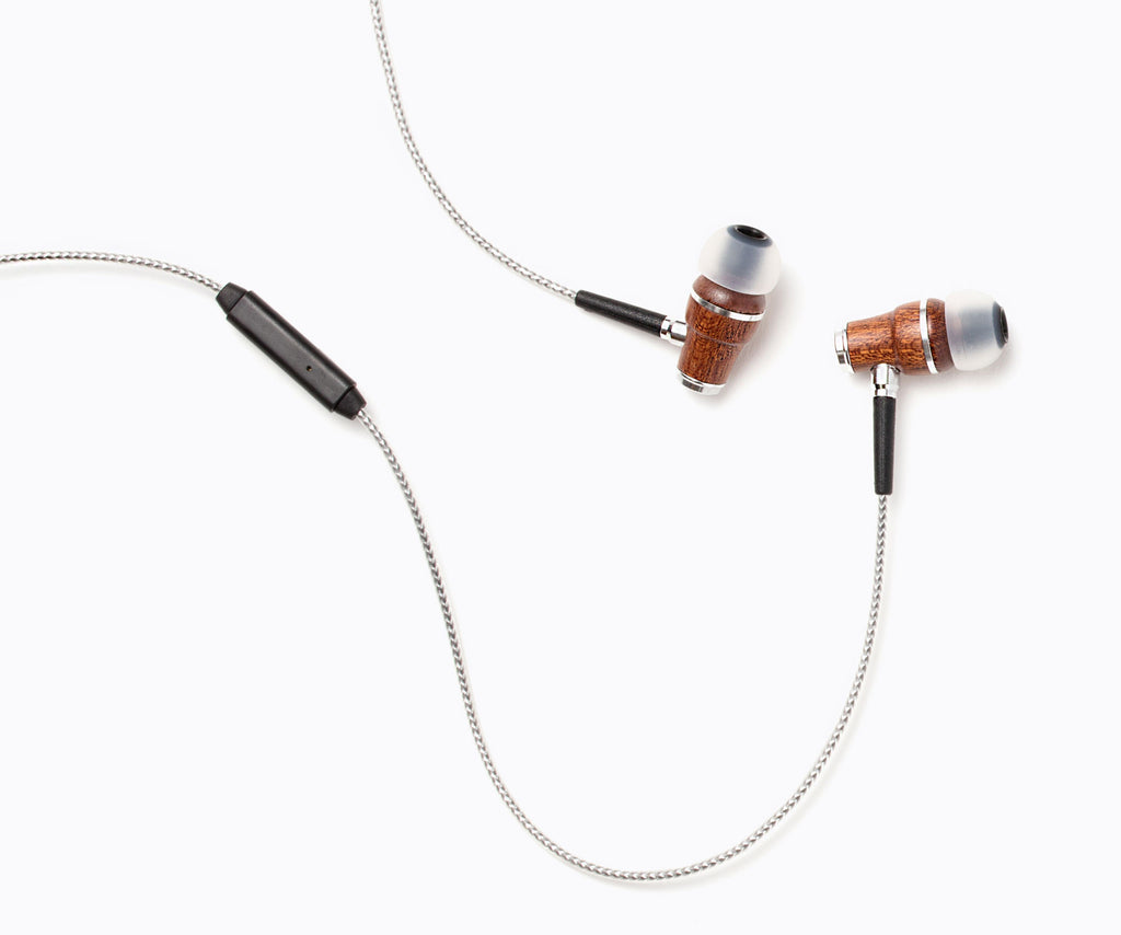 NRG 2.0 In-Ear Wood Headphones - Silver
