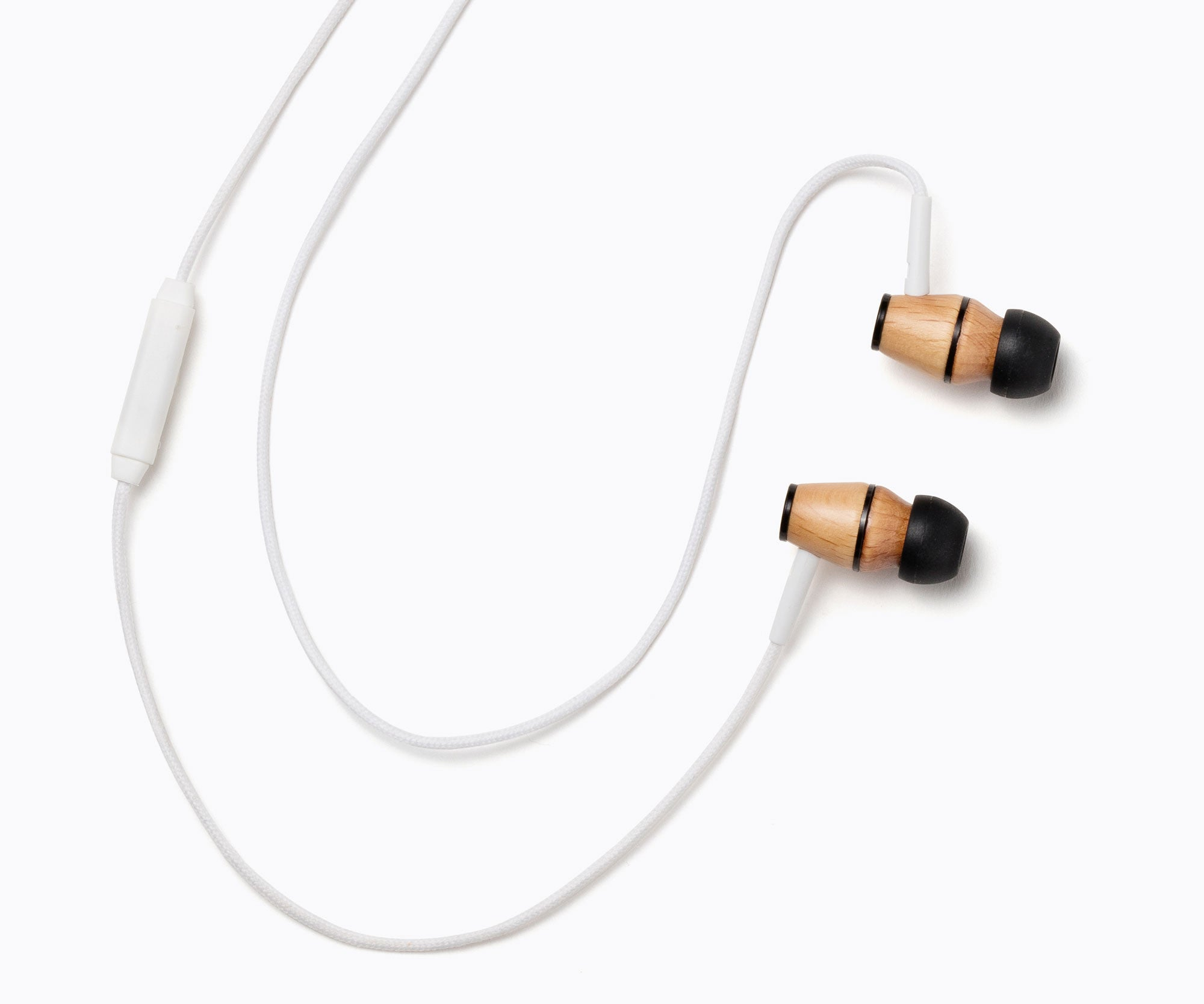 XTC In-Ear Wood Headphones - White