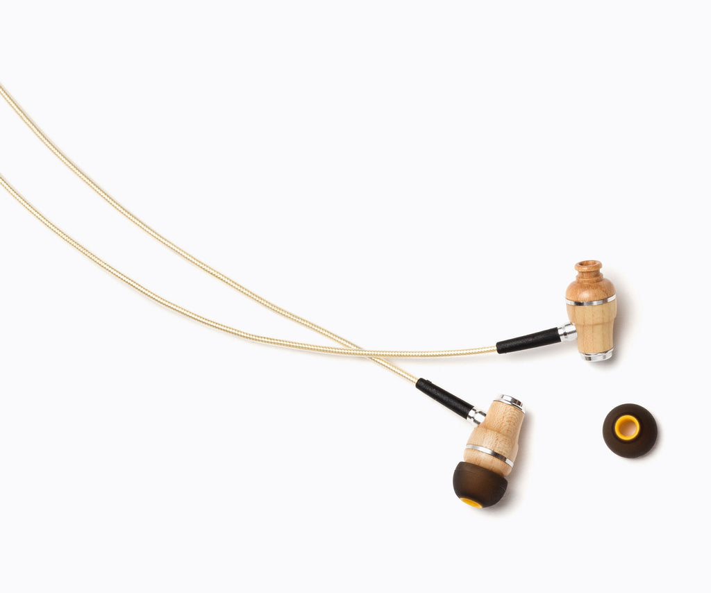 NRG 2.0 In-Ear Wood Headphones - Yellow Gold