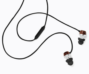 ALN In-Ear Wood Headphones - Black