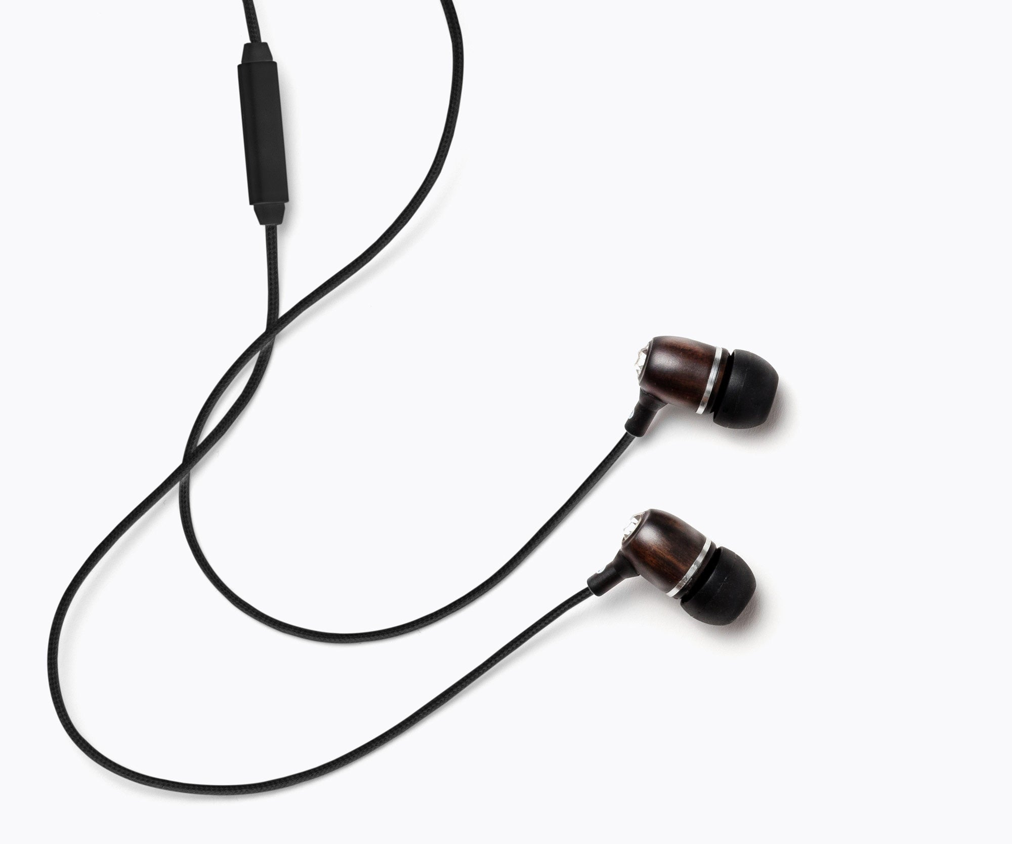 Bling In-Ear Wood Headphones - Black