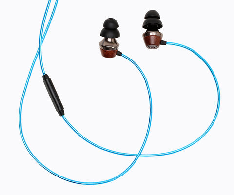 ALN 2.0 In-ear Wood Headphones - Metallic Blue