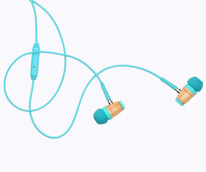 KIDS In-Ear Wood Headphones - Seafoam Green