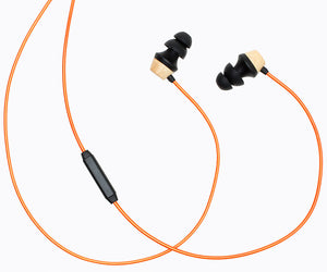 ALN 2.0 In-ear Wood Headphones - Metallic Orange
