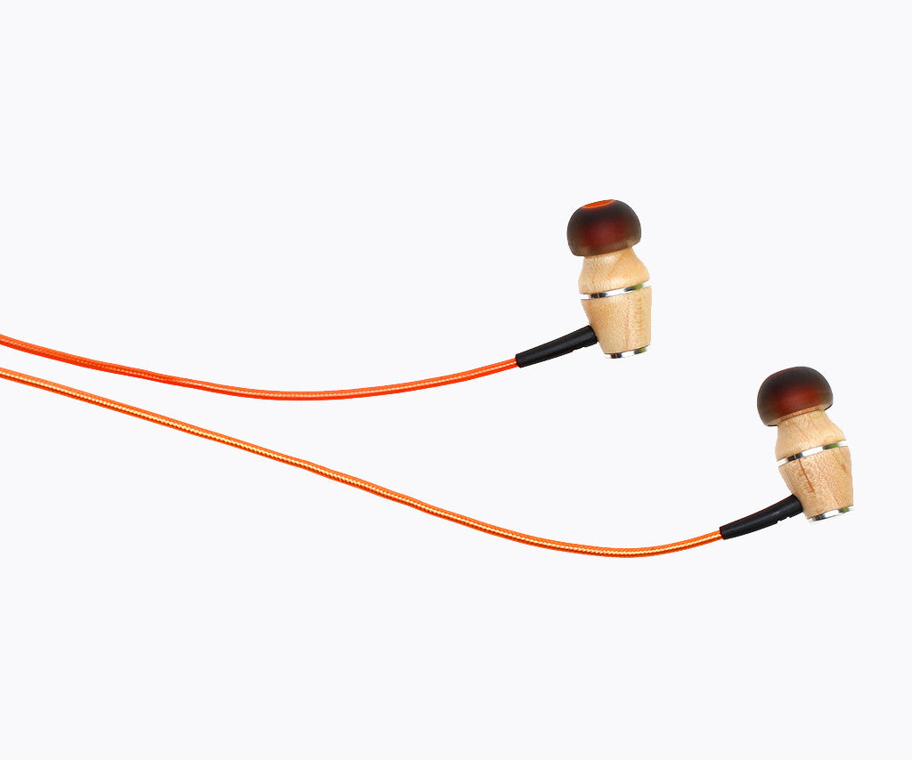 XTC 2.0 In-Ear Wood Headphones - Sunset Orange