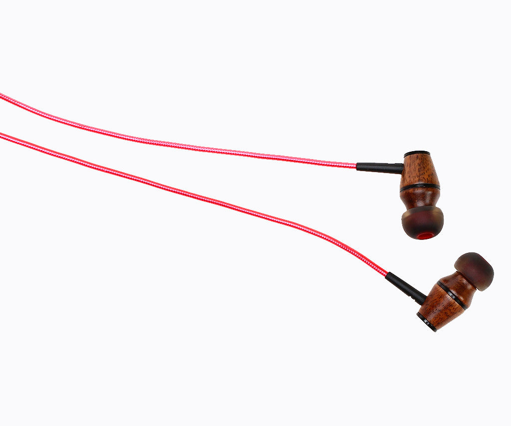 XTC 2.0 In-Ear Wood Headphones - Lava Red