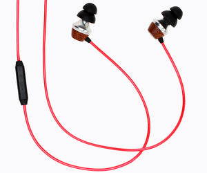ALN 2.0 In-ear Wood Headphones - Lava Red