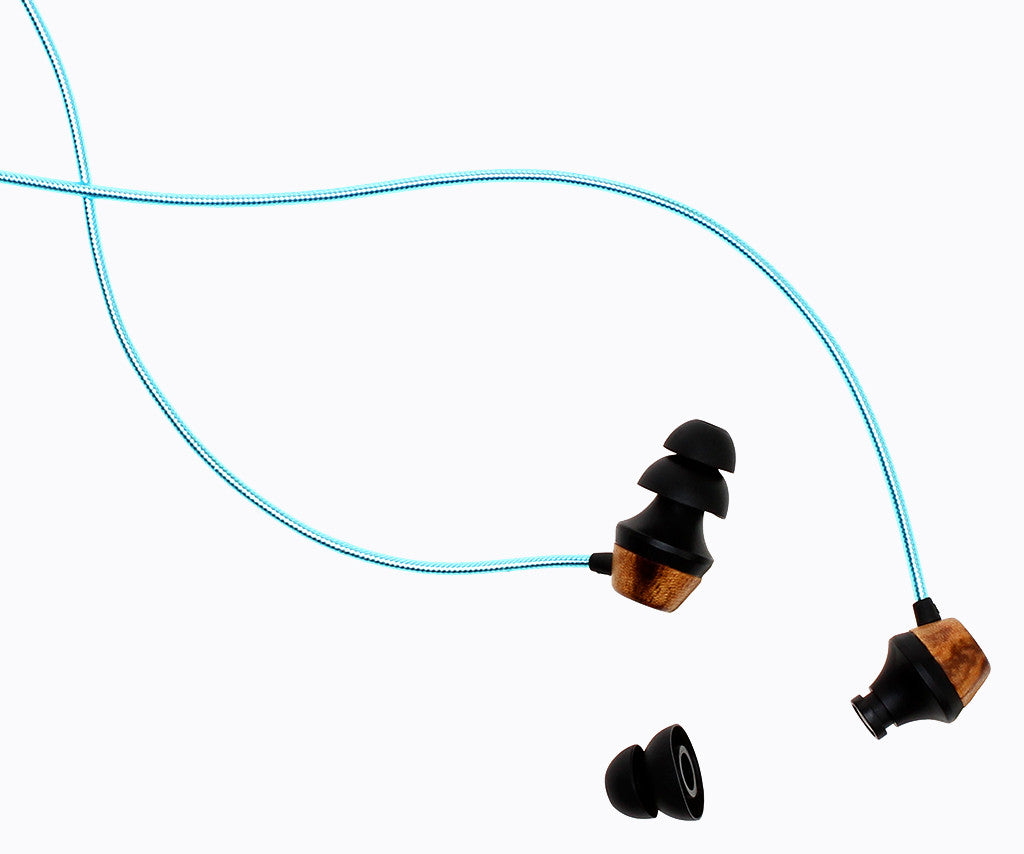 ALN 2.0 In-ear Wood Headphones - Turquoise