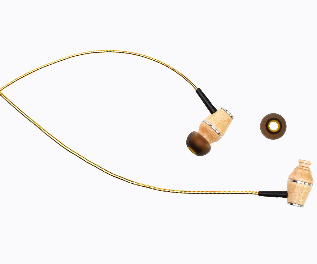XTC 2.0 In-Ear Wood Headphones - Tropical Sun