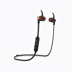 XTC Bluetooth Wireless In-ear Wood Headphones - Black