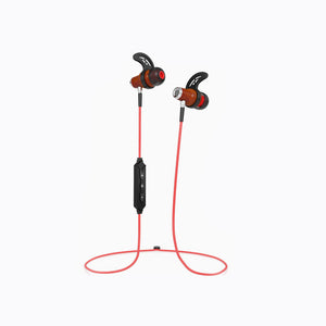 NRG 2.0 Bluetooth Wireless In-ear Wood Headphones - Red