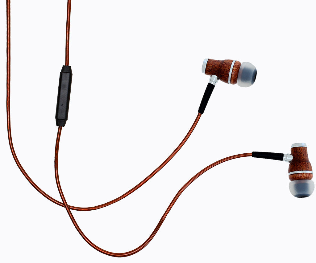NRG 2.0 In-Ear Wood Headphones - Brown