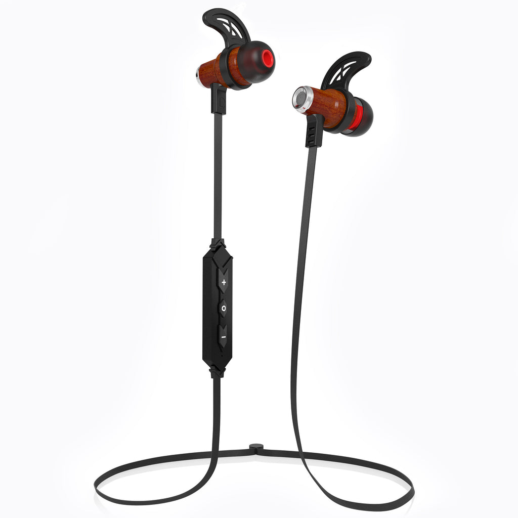 NRG Bluetooth Wireless In-ear Wood Headphones - Black