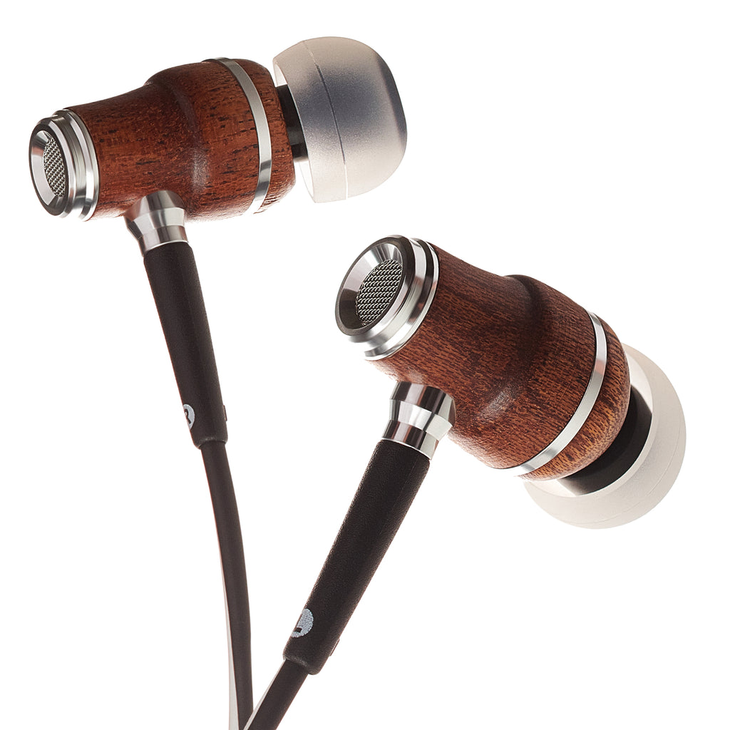 NRG X In-Ear Wood Headphones - Black and White
