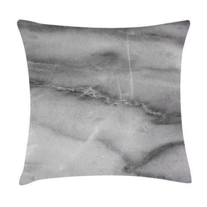 Grey Marble Throw Pillow