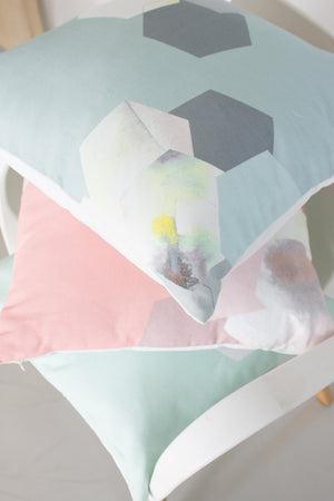 Pastel Mint Throw Pillow
