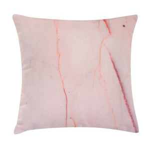 Rose Marble Throw Pillow