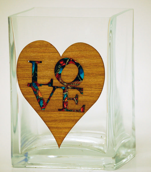 LOVE Glass Vase