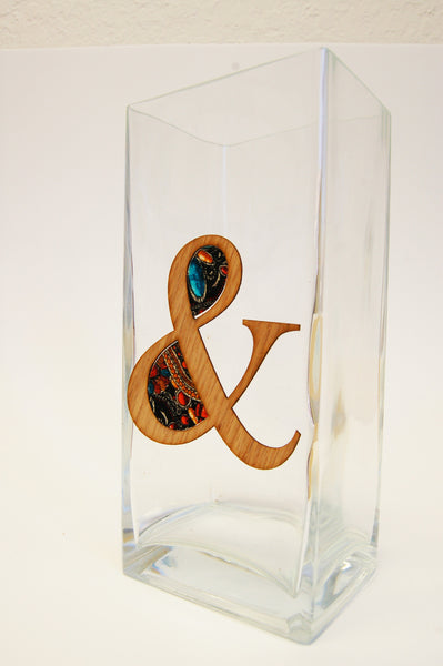 AMPERSAND &   Glass Vase