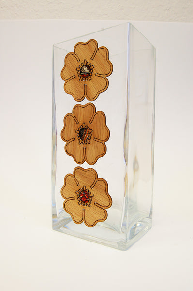 FLOWER PETALS Glass Vase