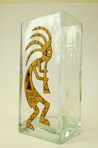 Kokopelli Glass Vase