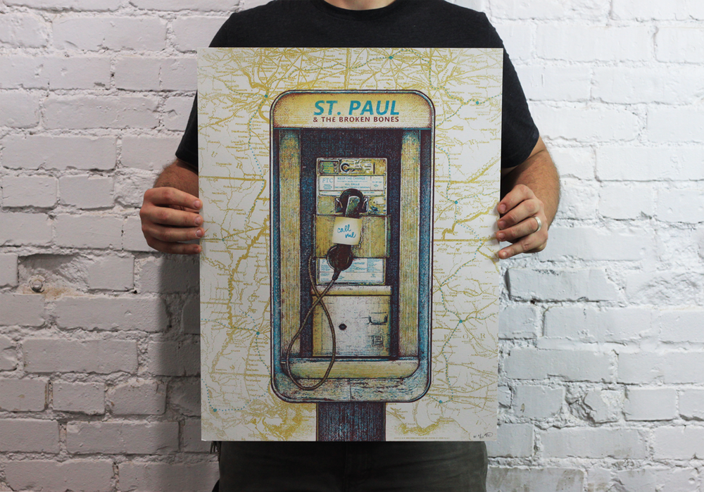 St. Paul and the Broken Bones VARIANT, 2014 Tour Poster