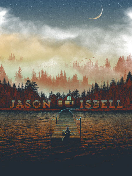 Jason Isbell, Official 2015 Tour poster (FALL VARIANT)