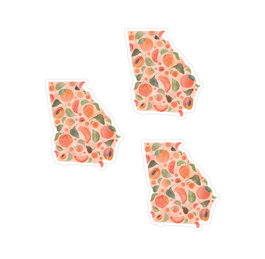 Georgia Sticker Set of 3