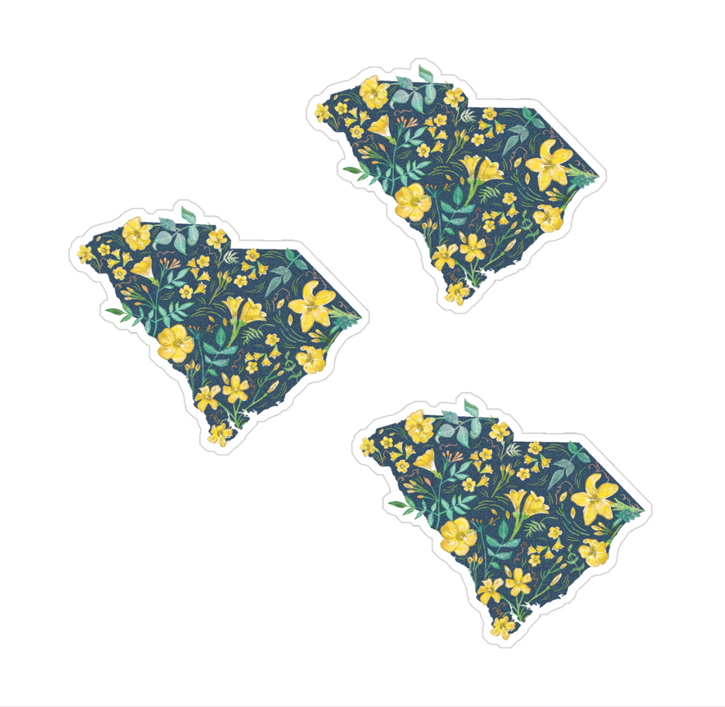South Carolina Sticker Set of 3