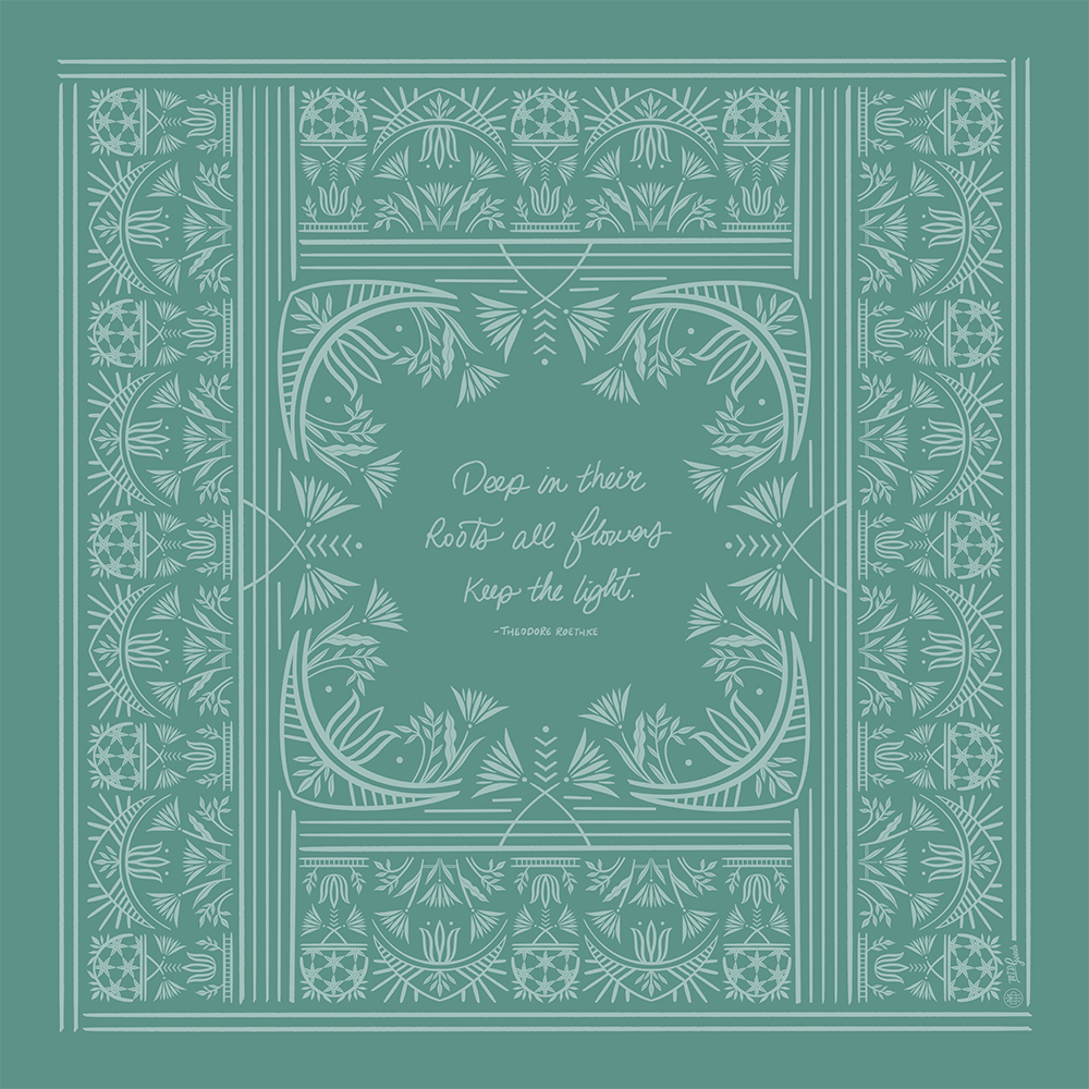 Keep The Light Bandana, Blue-Green