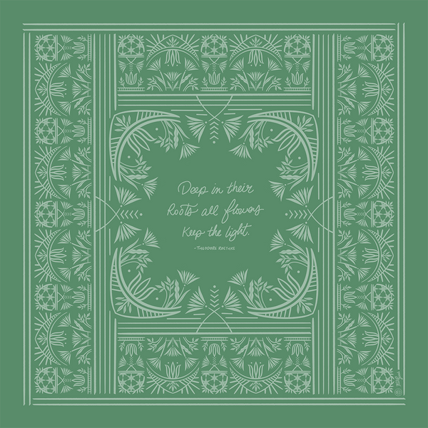 Keep The Light Bandana, Green