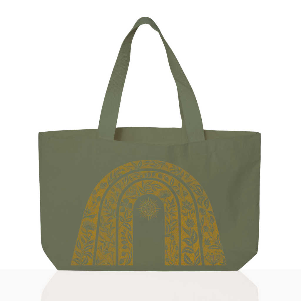 Sunshine Tote - Hand Dyed Field Green