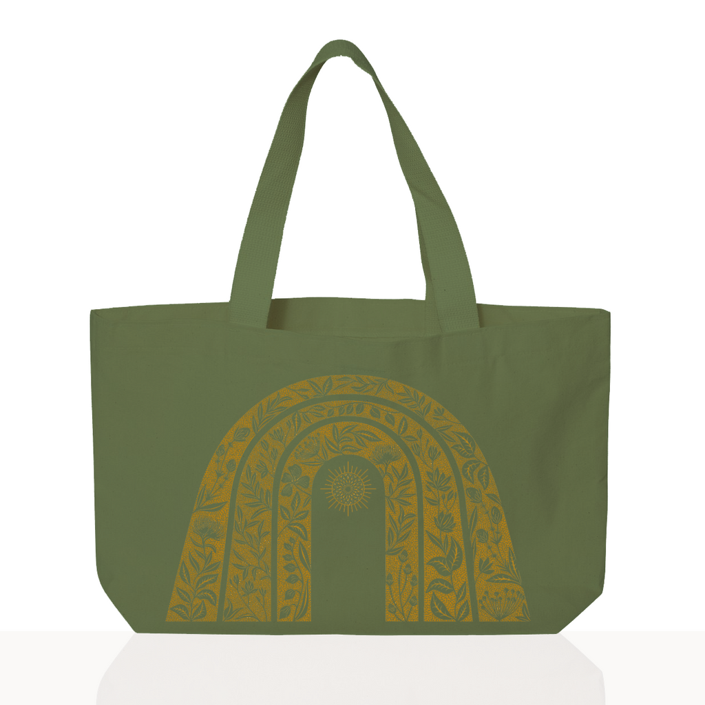 Sunshine Tote - Hand Dyed Green