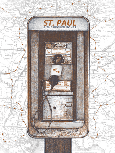 St. Paul and the Broken Bones, 2014 Tour Poster