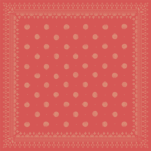 Heirloom Tomato Bandana, Vine Red 1 ed.25
