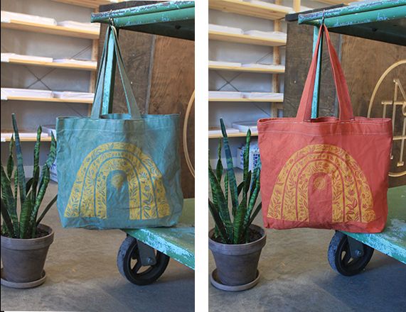 Sunshine Tote - Hand Dyed Blue/Green