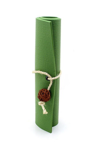 Cat Toy Gift Set: Olive Green Yoga Cat Mat Toy with Kitty Toy Yoga Props