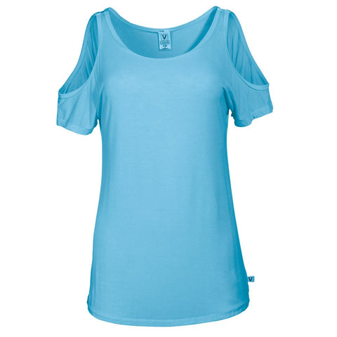 Sunset - Women's Short Sleeve O-Neck Cold Shoulder Soft Premium Tee Shirt