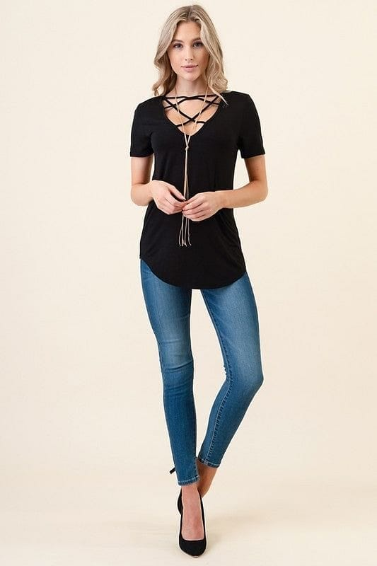 Black Criss Cross Basic