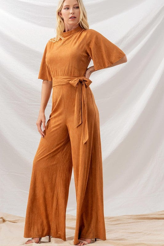 Stockyards Suede Jumpsuit