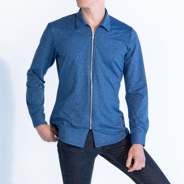 Men's Front Zip in Colbalt
