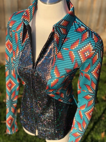 Cheyenne Beaded Aztec Ashley Cut