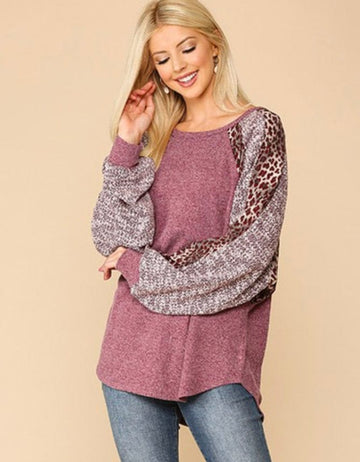 S/M - Wine Down Sweater