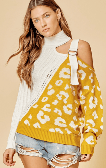 Marigold Off Shoulder Sweater