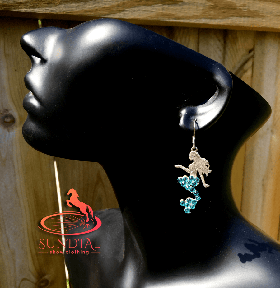 Aqua Mermaid Earrings