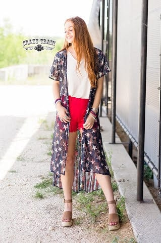 USA Lace Duster