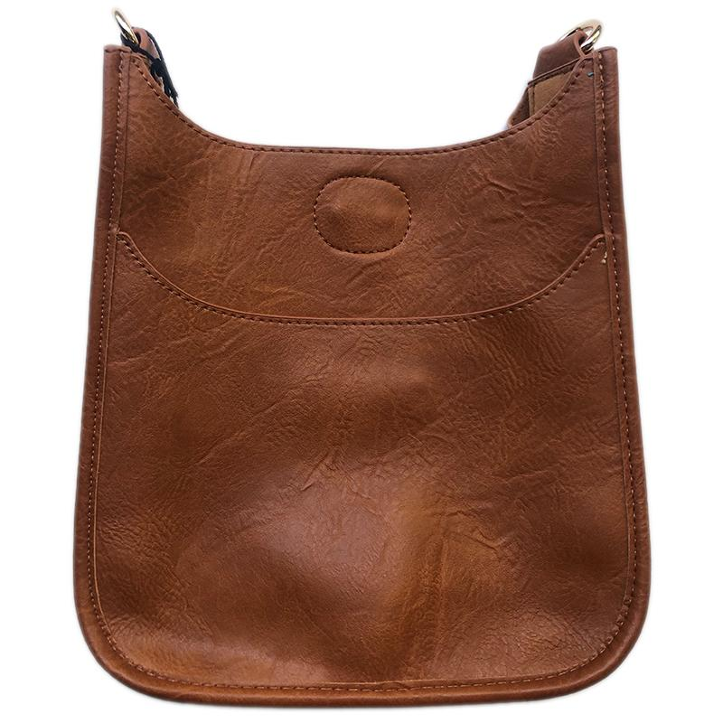 Soft Faux Leather Messenger-NO STRAP ATTACHED